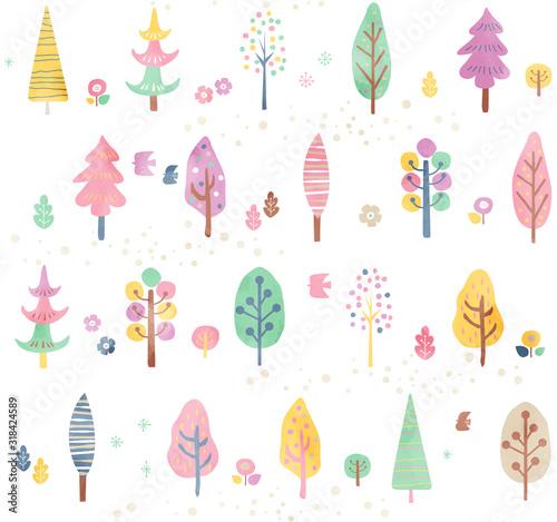 plakat 木のパターン春6