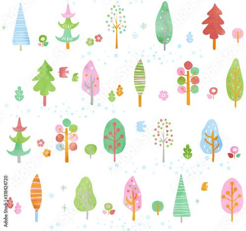 obraz lub plakat 木のパターン春1