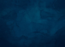 Deep Dark Blue Watercolor Text...