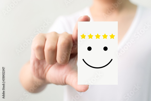 Cuadros en Lienzo Customer service experience and business satisfaction survey