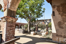 Court Yard In A Historic Spani...