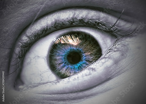 Obraz Cropped Image Of Person Eye - fototapety do salonu