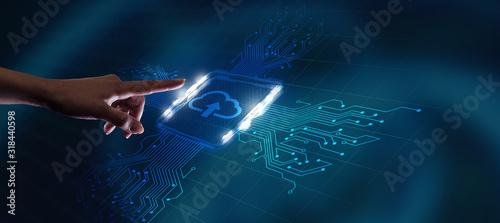 Photo Cloud computing concept
