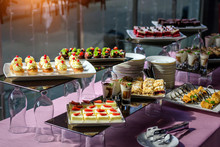 Cakes With Fresh Fruit And Ber...