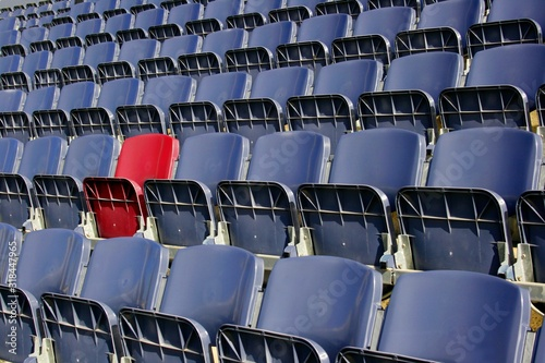 Obraz Empty Chairs In Stadium - fototapety do salonu