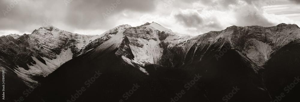 Fototapeta Snow Mountain closeup Banff panorama
