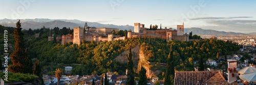 Photo Granada Alhambra panoramic view
