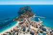 canvas print picture - Aerial view of Calpe