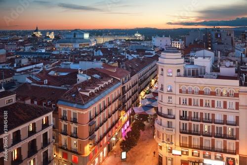 Fotografía Madrid rooftop view sunset