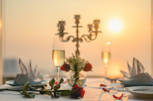 Roses On The Table For The Lov...