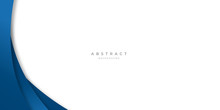 Modern Blue Abstract Curve Lin...