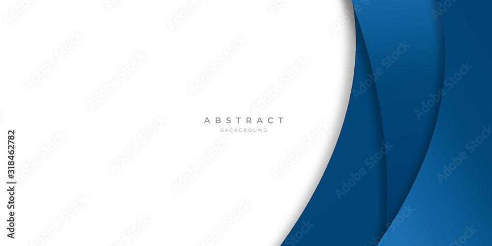 Fototapeta Modern blue abstract curve lines background for presentation design, banner, brocure, and business card