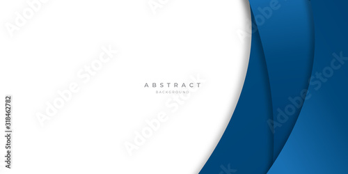 Obraz Modern blue abstract curve lines background for presentation design, banner, brocure, and business card - fototapety do salonu