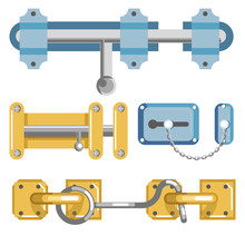 Metal Door Latches With Bolt A...
