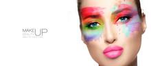 Beauty Make Up. High Fashion M...