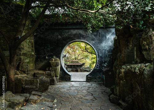 Photo Chinese doorway in Wuyuan China