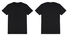 Black T Shirt Front And Back V...