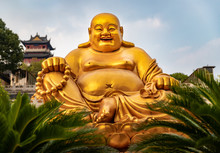 Laughing Buddha At Temple In C...