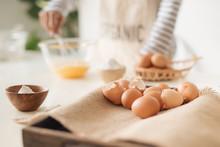 Man Whisking Eggs Food Photogr...