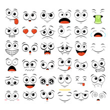 Set Of Emoticons With Differen...