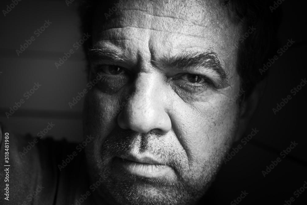 Fototapeta Close-Up Portrait Of Mature Man