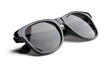Unisex Dark Sunglasses Isolated On White Background
