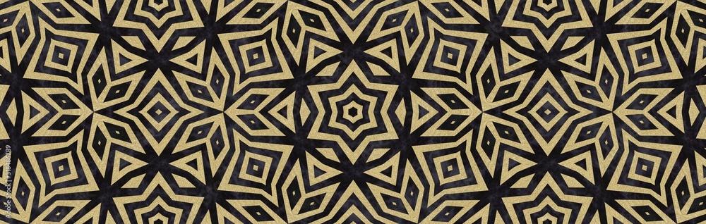 Gold And Black Art Deco Border