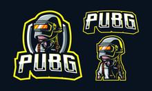 PUBG Character Mascot Logo Des...
