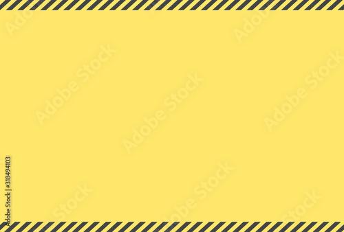 Photo 警告・危険・防災イメージ素材:黄色と黒のシンプルな注意喚起背景素材