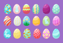 Colorful Eggs. Happy Easter Ce...