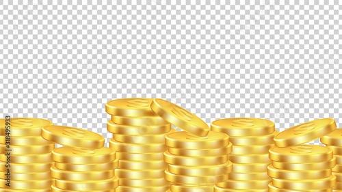 Fotografía Golden coins background