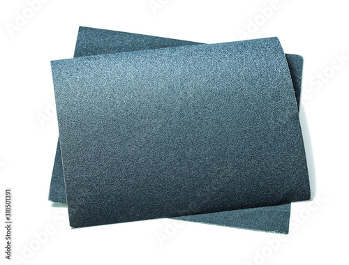 black sheets of abrasive paper isolatedon white Canvas Print