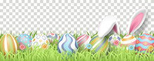Happy Easter Background With R...