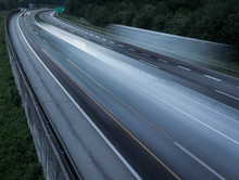 Long Exposure Of Vehicles On Road