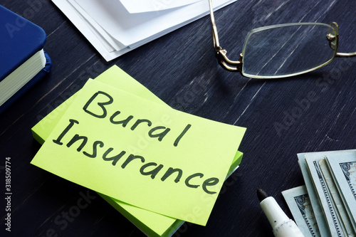 Burial Insurance memo on the green sheet and money. Canvas Print