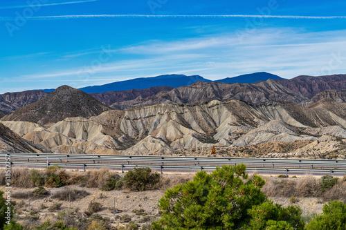 Fényképezés Tabernas desert, Desierto de Tabernas near Almeria, andalusia region, Spain