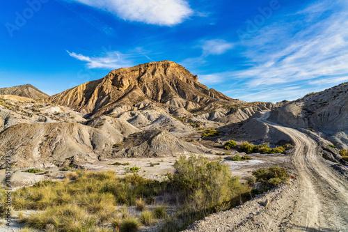 Fotografie, Obraz Tabernas desert, Desierto de Tabernas near Almeria, andalusia region, Spain