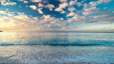 Fototapeta  - Long exposure picture of a beautiful bay in Elba Island, Tuscany, Italy