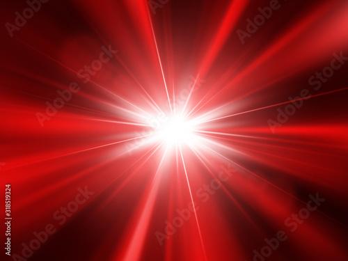 Cuadros en Lienzo Vector star, sun with lens flare and rays