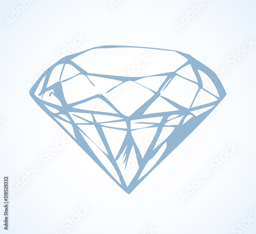 Photo Diamond. Vector sketch