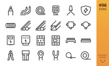 Electricity Icons Set. Set Of ...