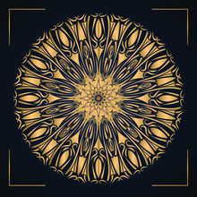 Luxury Mandala Vector Background With Golden Arabesque Style