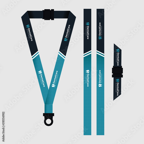 Blue lanyard template for dentist Tableau sur Toile