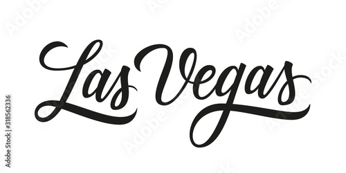 Las Vegas handwritten inscription Canvas Print