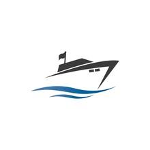 Yatch Logo Vector Design On Th...