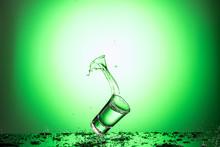 Splash In The Falling Glass Wi...