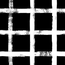 Grunge Grid Seamless Pattern. ...