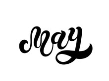 May. Hand Drawn Lettering. Vec...