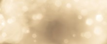Festive Abstract Christmas Bokeh Background - Bokeh Lights Beige - New Year, Anniversary, Wedding, Banner