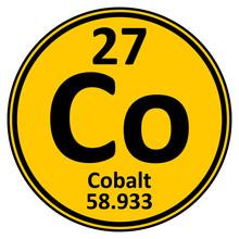 Periodic Table Element Cobalt Icon.